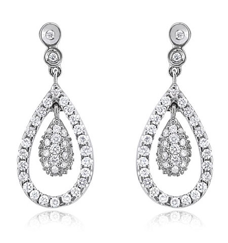 diamond teardrop earrings - Earings....