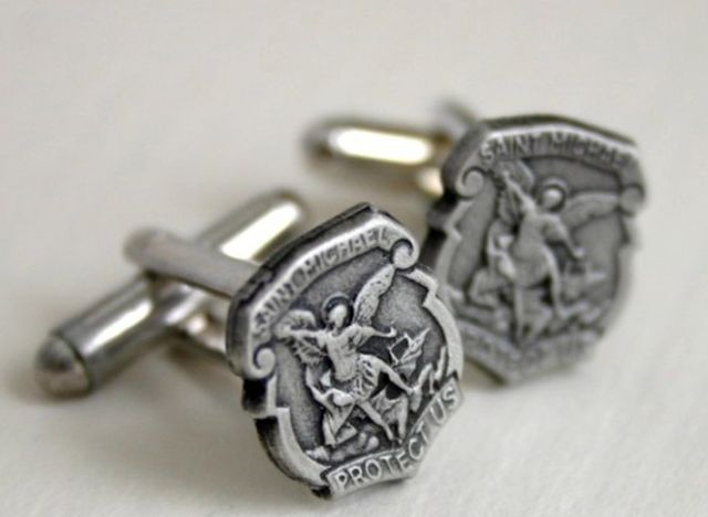 Cufflinks Saint Michael the Patron Saint of Police