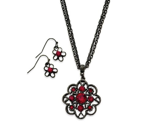 Ruby Costume Jewelry Set